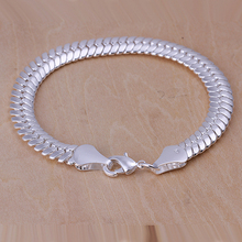 Bracelet  Silver Plated Bracelet Silver Fashion Jewelry 20CM Snake Chain Jewelry Factory Direct Sale opiu LH231(China (Mainland))