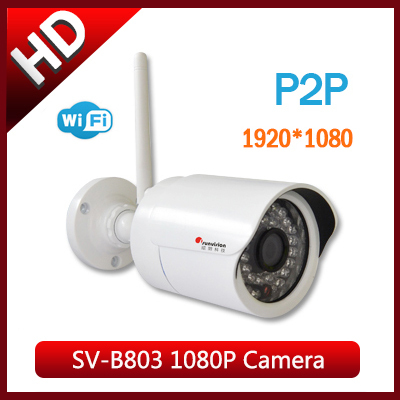 Sunvision 1080P Security ip Cameras HD Megapixel IP Wifi Camera P2P Outdoor/Indoor Wireless CCTV Network Camera SV-803W(China (Mainland))