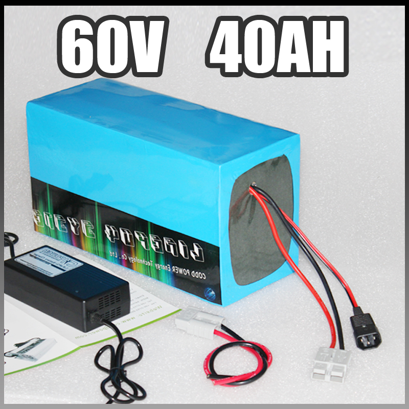 60V 40Ah electric bike battery , 3000W Electric Bicycle lithium Battery with BMS Charger 60v li-ion scooter battery pack 970<br><br>Aliexpress