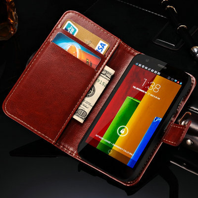 Luxury Vintage Leather With Stand Wallet Case For Motorola Moto G Phone Bag Vintage With Card Holder New 2015(China (Mainland))