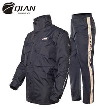 QIAN RAINPROOF Professional Adult Outdoor Raincoat Thicker Slicker Heavy Water Rain Gear Motorcycle Rainsuit High Quality(China (Mainland))