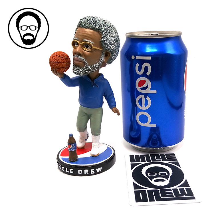 Fancy Doll 13cm NBA Kyrie Andrew Irving Figure Cola Uncle drew Resin Bobble Head Figure Doll Toy Collectible Model Toy Hot Sale(China (Mainland))