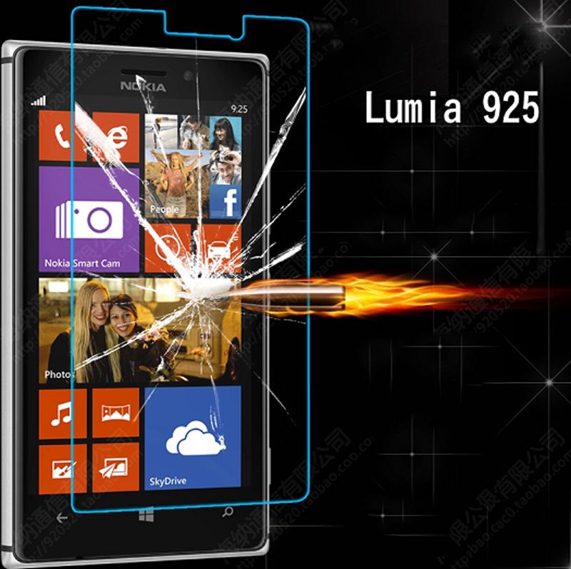 0.3mm plane Tempered Glass Anti-explosion For Nokia N925 Lumia 925 Screen Protector For Nokia 925 free shipping(China (Mainland))