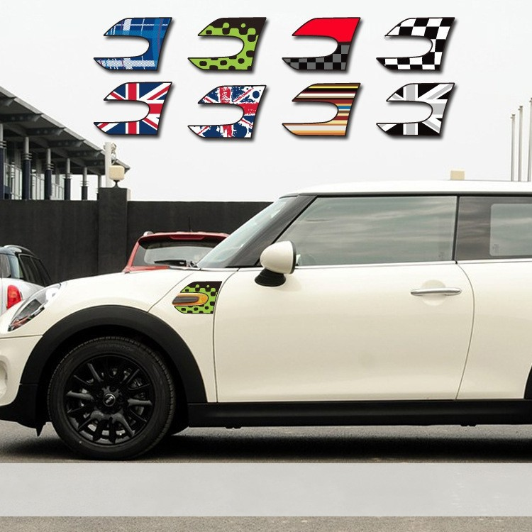 2 x Car stickers wholesale fender stickers section side scuttles for BMW MINI COOPER F56 Free shipping(China (Mainland))