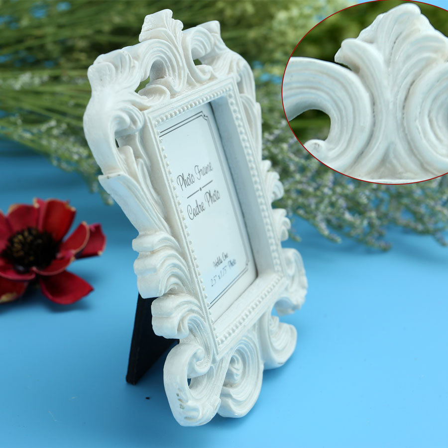 white black Baroque photo picture frame Wedding Place Card Holder Engagement Favors Gift Party Accessory