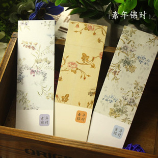 10 pcs/lot(2 bags) DIY Cute Creative Flower Paper Bookmarks Creative Vintage Word Card Office School Supplies Free Shipping 641(China (Mainland))
