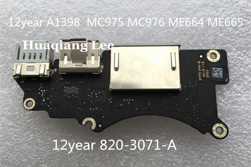 original A1398 USB board 820-3071-A I/O BOARD USB 3.0 SD SLOT work good promise quality free shipping