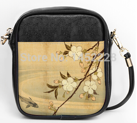 Fancy Design Retro beautiful flower printed message bags Wholesale and Retail Sling Bags(China (Mainland))