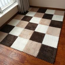 30cm/piece 9pcs/set Puzzle Mat EVA Foam shaggy velvet Carpet door mat Jigsaw Mat plush fabric Carpet Area Rug Room Floor Mats(China (Mainland))