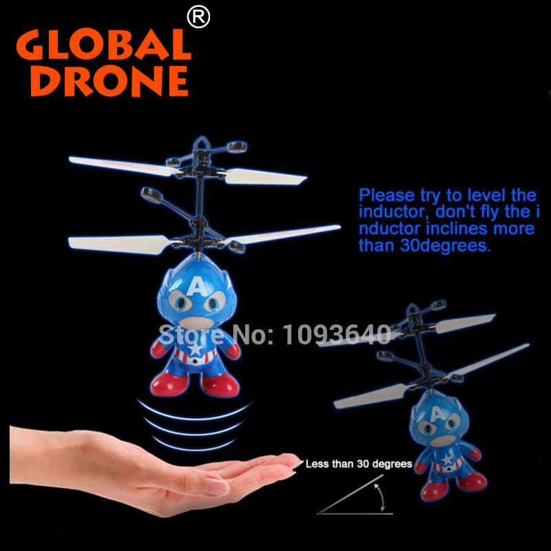 Remote Control Kids Toys SPACE MAN 2ch Infrared induction HY830 RC Flying Toys For Kids Micro Kit Drone rtf Mini Quadcopter ufo(China (Mainland))