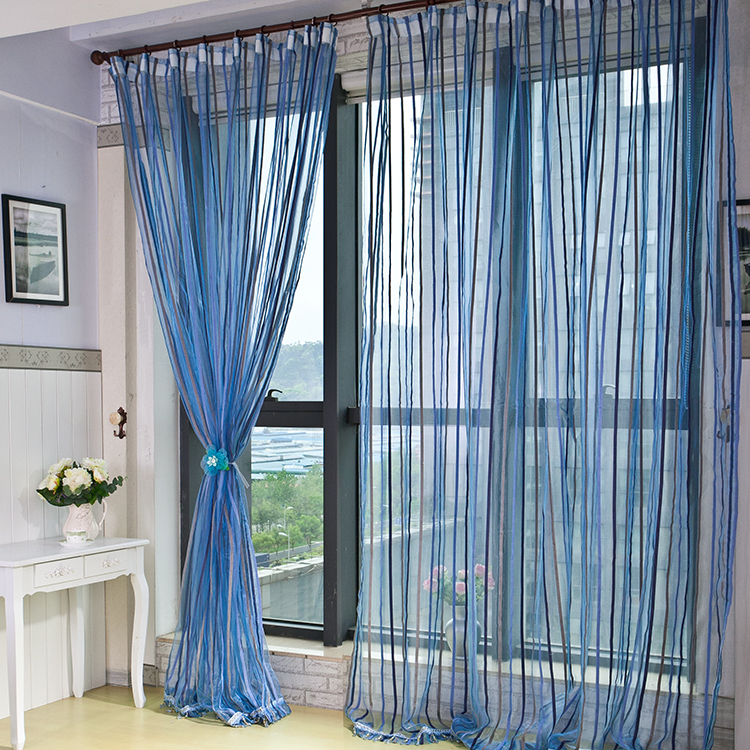 Teal and Blue Bathroom Window Curtains Amazoncom