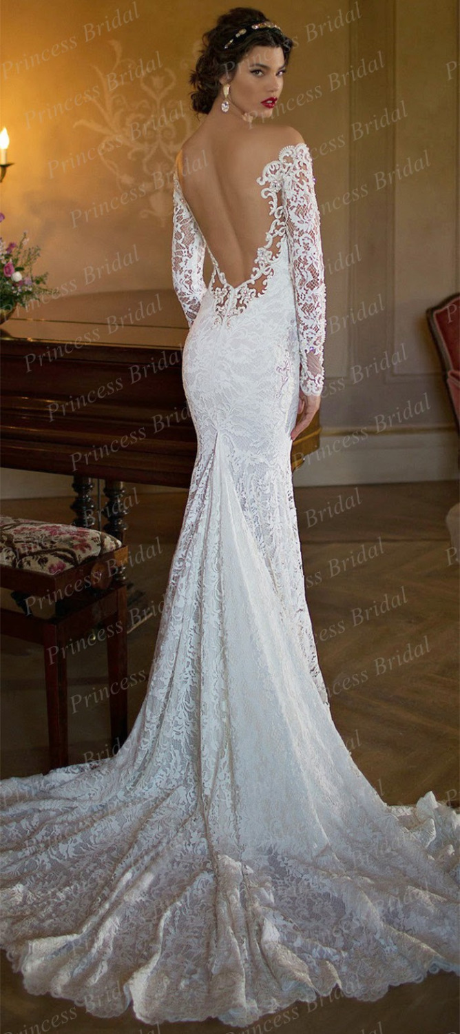 Long Sleeve Backless Wedding Dresses Home Design