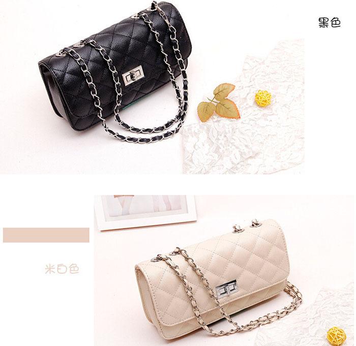 Lattice Women Bag PU Leather Bag Mini Chain Women Messenger Bags 100PCS lot