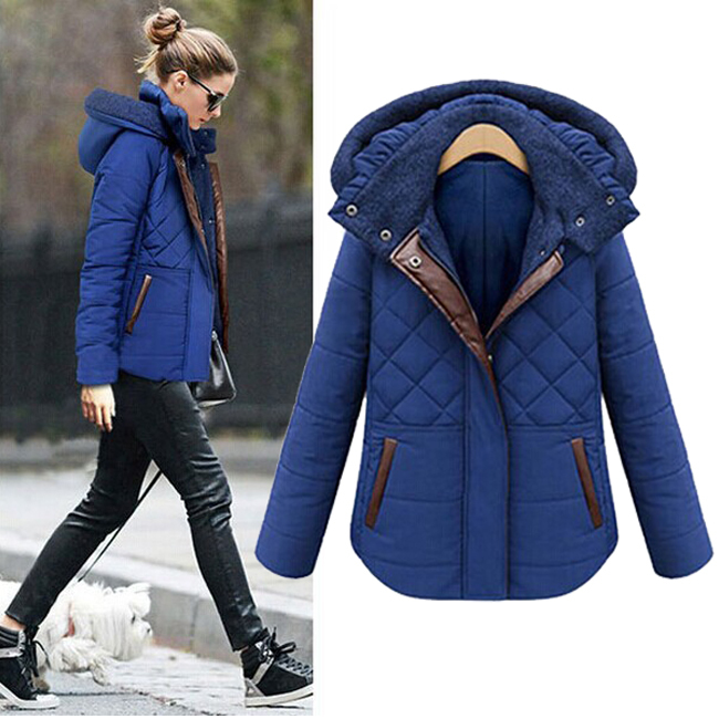 2015 Winter Women outwear Brand cotton coat European and American fashion warm coat Plus Size (S-XXXXL) Brand jacket(China (Mainland))