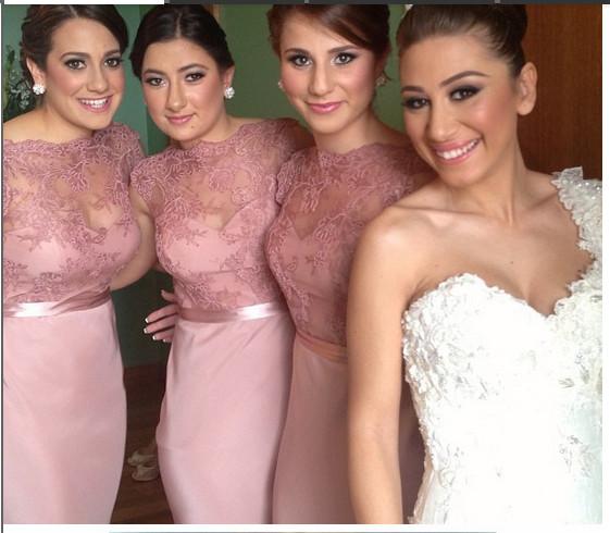 elegant mermaid Bridesmaid Dress 2015 Pink/Coral/Blue/Ivory/ Mint Green Bridesmaid Dresses long Chiffon wedding party gown(China (Mainland))