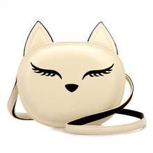 Cute Fox Rabbit Cat Bear Face Women Bag Baby Girl Mini Shoulder Bag For Women Cross Body Bags Lady PU Leather Handbags Animal(China (Mainland))