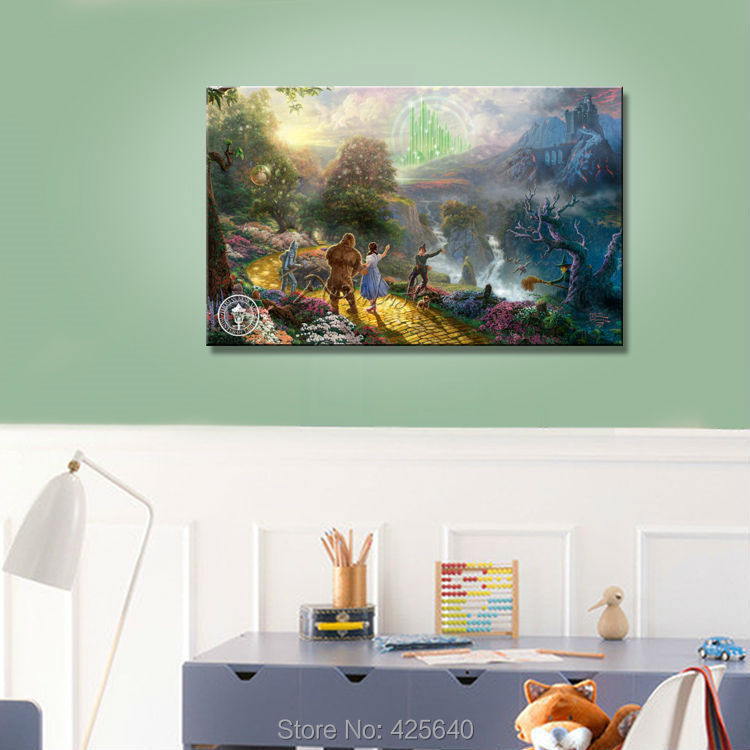 Thomas Kinkade Oil Paintings Character wizard of oz Art Decor Painting Print Giclee Art Print On Canvas(China (Mainland))