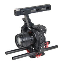 Buy 15mm Rod Rig DSLR Camera Video Stabilizer Cage Kit w/ Top Handle Grip Sony A7 A7S A7RII A6300 A6000 /GH4 GH3 /EOS M5 M3 for $76.79 in AliExpress store