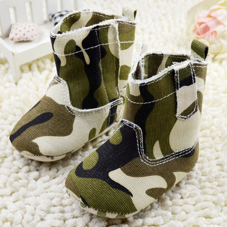 Autumn winter new designs Camouflage pattern baby shoes boys girls boots baby infant soft sole toddler shoes 2284 free shipping(China (Mainland))