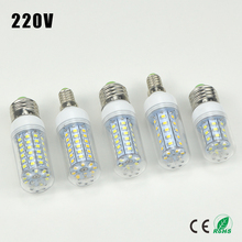 1X 2016 Full New LED lamp E27 E14 220V 30/36/48/56/69 LEDs Corn Bulb Chandelier Candle Spot light Replace CFL 7W 12W 15W 20W 25W(China (Mainland))