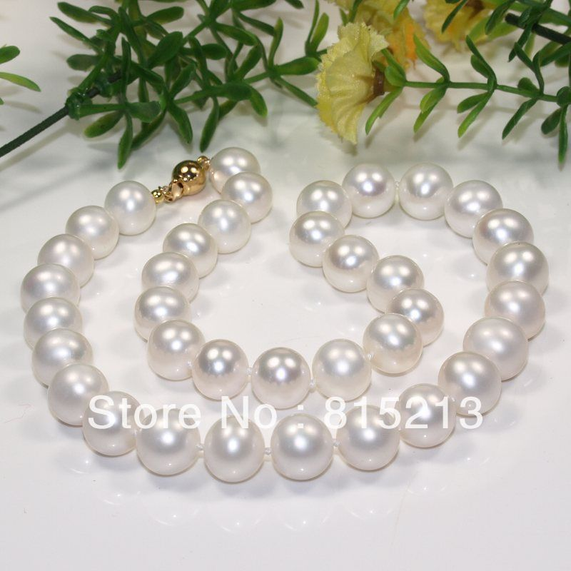 ddh001726 best buy AA 11-12mm white akoya round pearl necklace Clasp can choose(China (Mainland))