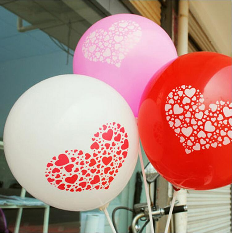 Good Quality Hearts 3.2g 12inch Romantic Latex Balloons Valentines Day Wedding Party Decorations Love Balloon Free Shipping(China (Mainland))