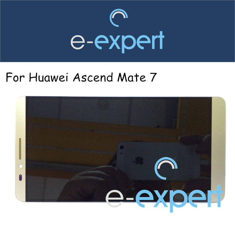Original New TFT Touch screen glass + LCD display Assembly For Huawei Ascend Mate 7 Gold 1920*1080(China (Mainland))