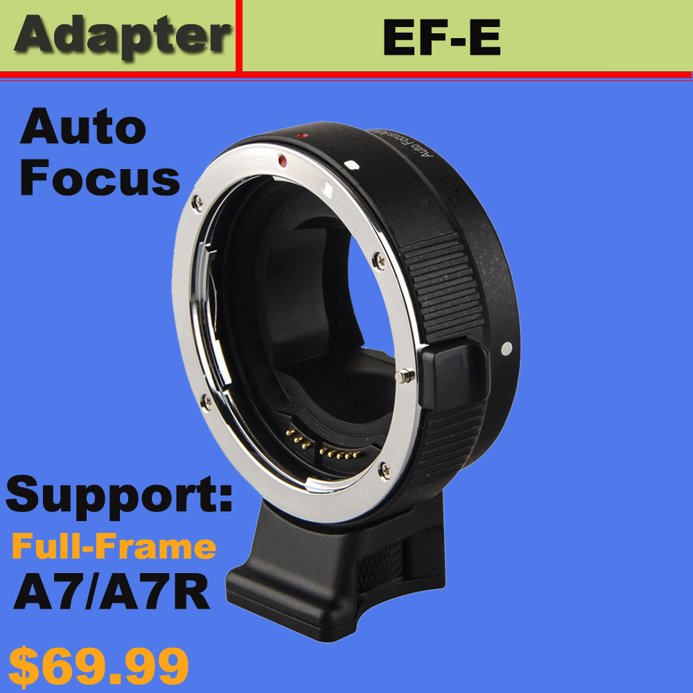 Auto Focus AF Adapter for Canon EOS EF EF-S mount lens to Sony E A7 A7R NEX-6 <br><br>Aliexpress