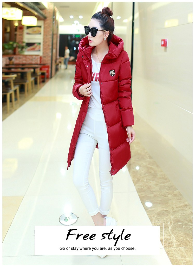 2016 New Winter Women Long Warm Cultivate One's Morality Upset Down Jacket Have Big Yards Fashion Coat Female Padded Parka