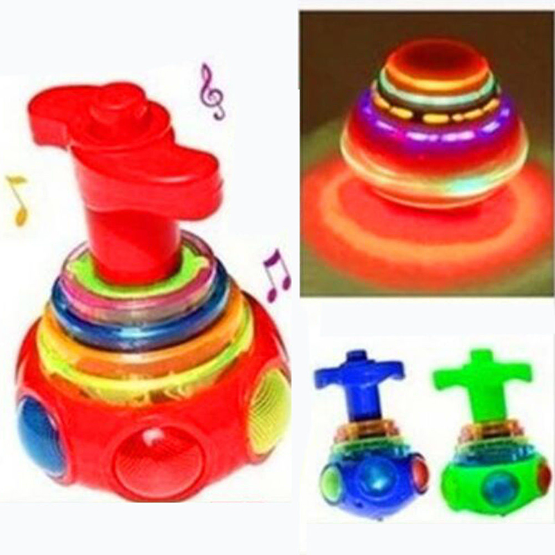 1PC Baby Colorful Light Music Gyro Peg-Top Spinning Tops Kids Children Gift(China (Mainland))