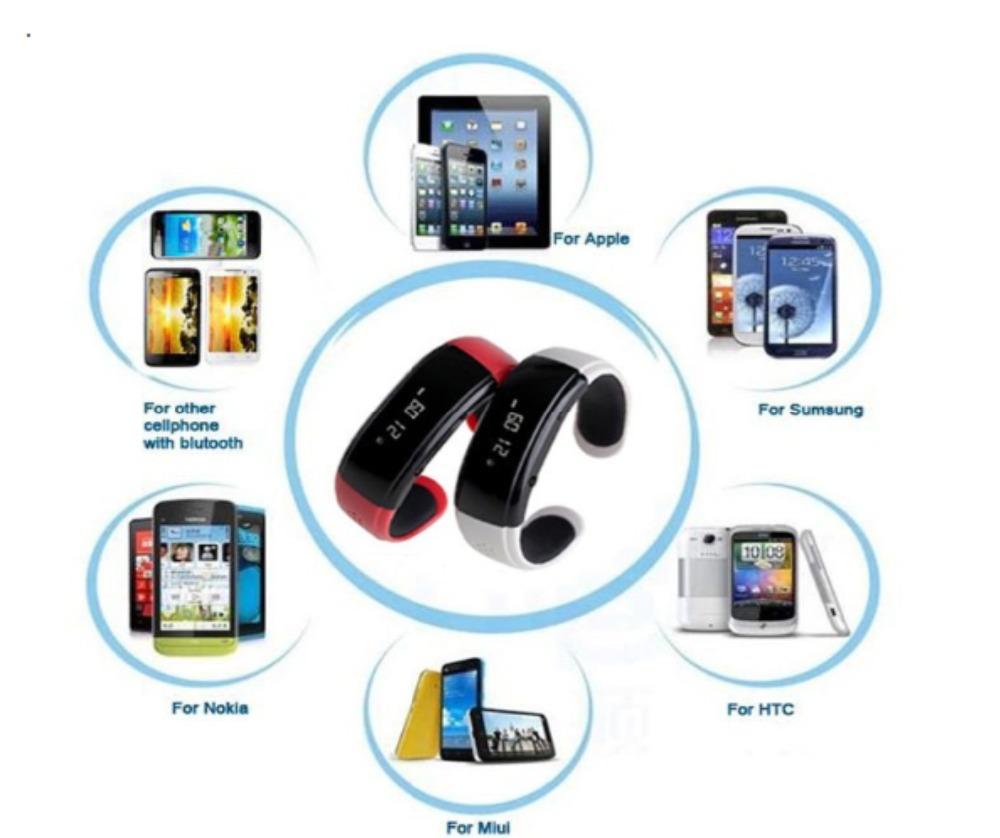 10 piece BT988 Smart Alert Bluetooth 3.0 Bracelet Buzz Alarm Call For Iphone for HTC Smartphones Wristwatch(China (Mainland))