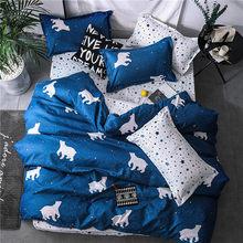 2019 new home bedding grey heart Duvet cover set super king bedclothes stripe flat sheet Adults bedding cotton set bed linen set(China)