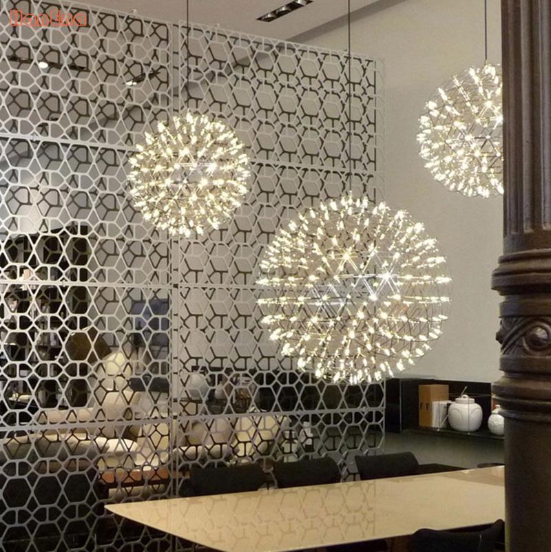 Stainless Steel Pendant Light Dimmable LED Firework Lamp Ball Moooi Raimond Restaurant Lamparas Lustre 110-240V<br><br>Aliexpress