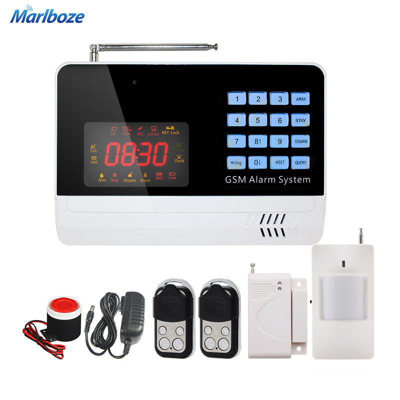 6120G Metal Remote Control High-grade Pir Motion Detector Wireless Door Sensor Kit Home Security GSM Alarm System(China (Mainland))