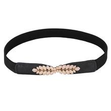 Buy Fashion Metal Vintage Carving Buckle Women's Belts Female Straps Black Ladies Waist Belt Cummerbund Stretch Thin Belt Waistband for $4.15 in AliExpress store