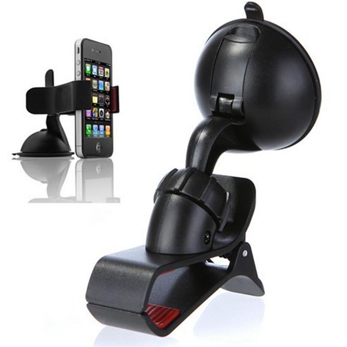 New 2014 Universal Car Phone Holder 360 Rotating Mount Bracket Holder Stand for iphone 4 4S 5/samsung galaxy/nokia car holder(China (Mainland))