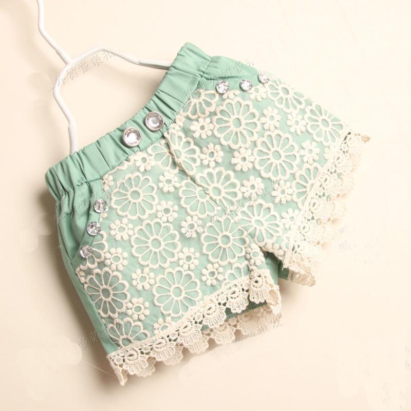 Lace fashion girls shorts/2014 summer stylish children pants/Good quality girl clothes(China (Mainland))