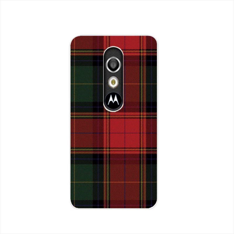 07287 RED BLUE font b TARTAN b font SCARF FASHION housing Cover cell phone Case for