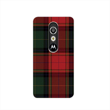 07287 RED BLUE TARTAN SCARF FASHION housing Cover cell phone Case for Motorola Moto G3 G 3rd Gen Generation