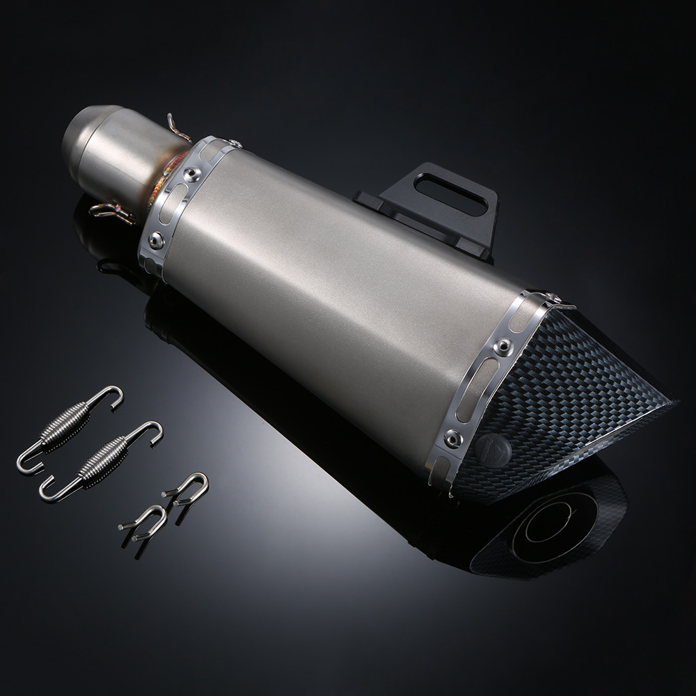 Exhaust Pipe Motorcycle 51mm Universal Motorcycle ATV Frosted Stainless Steel Exhaust Pipe Muffler with Hexagonal Artificial(China (Mainland))
