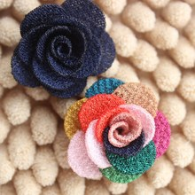 """1"""" Multilayer Ribbon Rosettes,Children Boutique Rose Flowers Baby Girls Apparel Accessories colorful Mini rose for Ear Studs"""