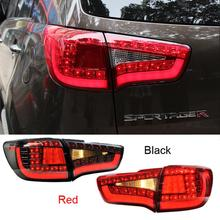 New Car styling Rear Lights Kit modification For KIA Sportage 2010 2011 2012 2013 2014 High quality Black or Red(China (Mainland))