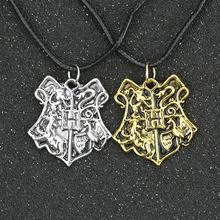 Hogwarts School Badge Crest Necklace Gryffindor Hufflepuff Ravenclaw Slytherin Vingtage Retro Pendant Movie Jewelry Wholesale(China (Mainland))