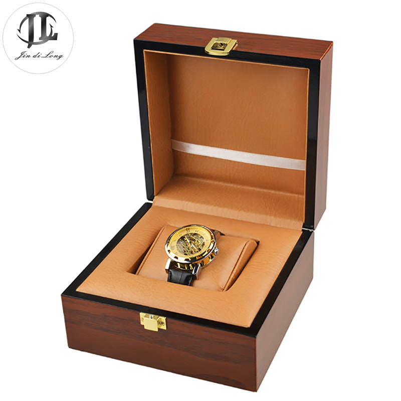 Antique Oil Painting Wood Watch Gift Pack Box Case PU Leather Pillow Wristwatch Display Showing Boxes Durable Recollection(China (Mainland))