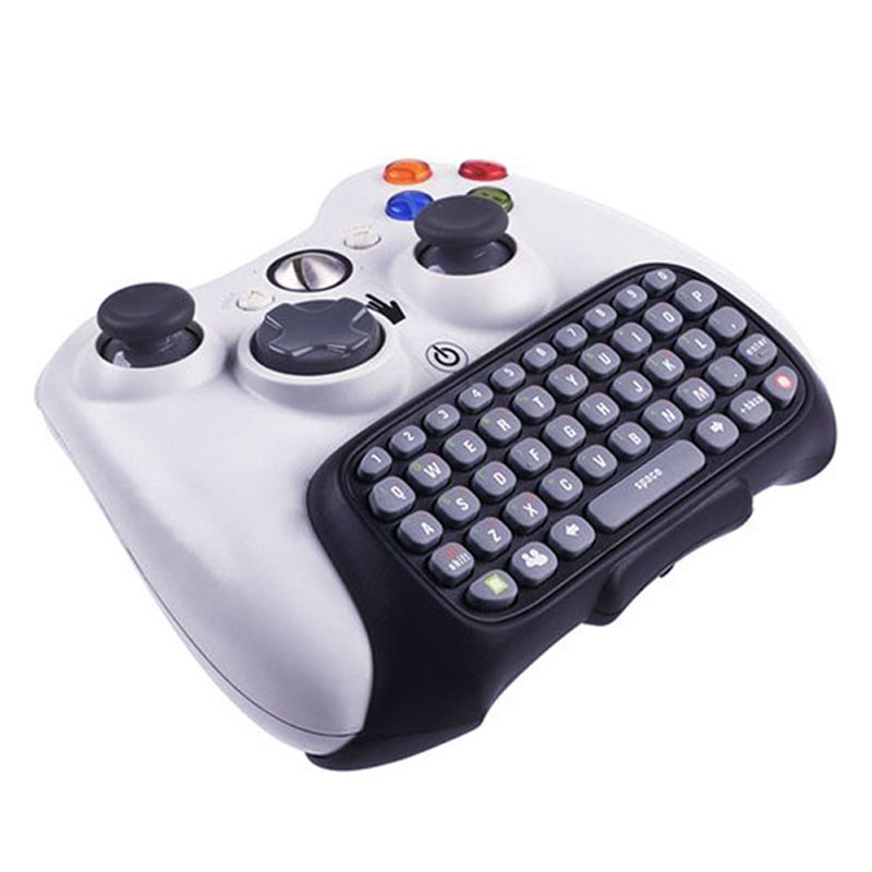 Wireless Controller Text Messenger Keyboard Chatpad Keypad for Xbox 360 Game Controller Black With retail packaging(China (Mainland))