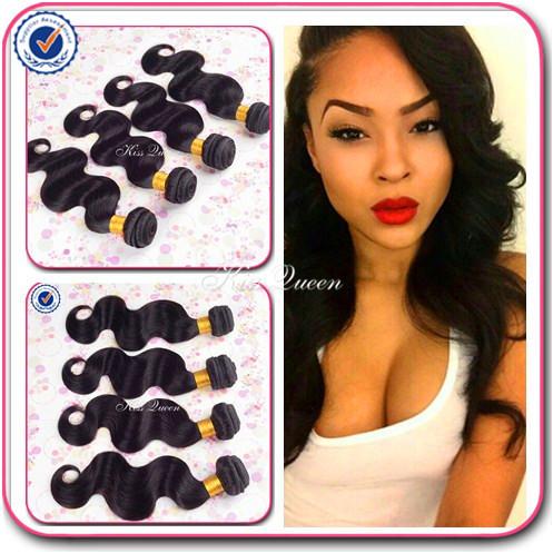 Brazilian virgin hair 4 bundles brazilian body wave wavy Queen hair products cheap 6A unprocessed virgin human hair vendors soft(China (Mainland))