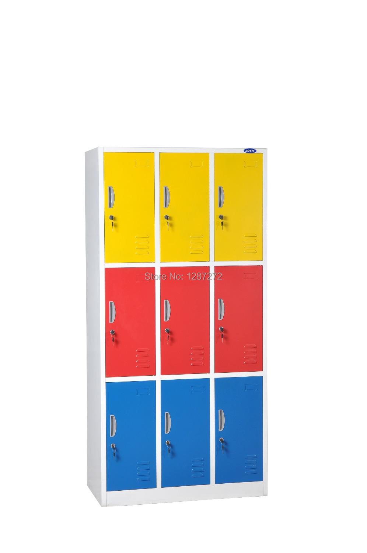 2014 high quality office furniture colorful locker,nine door locker,many door locker(China (Mainland))
