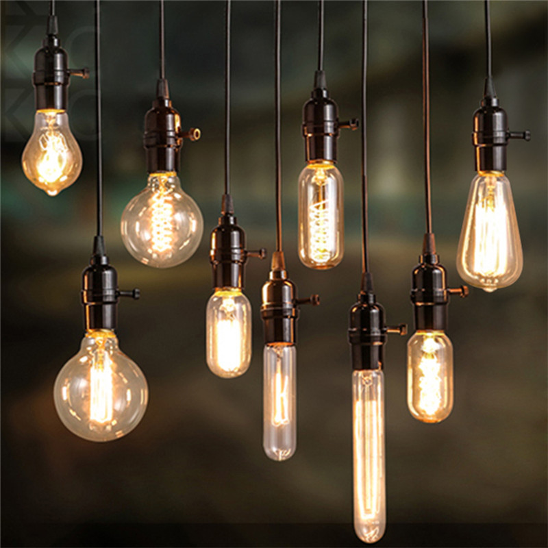 Lamp Bases 110-220V E27 E26 Screw Edison Lamp Light Bulb holder 100cm cable For 40W/60W Retro Incandescent Vintage Filament Bulb(China (Mainland))