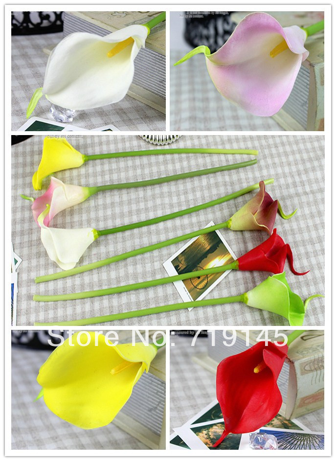 6C available artificial calla flower PU real touch mini calla lily wedding home decoration flower diy wedding flower bouquet(China (Mainland))