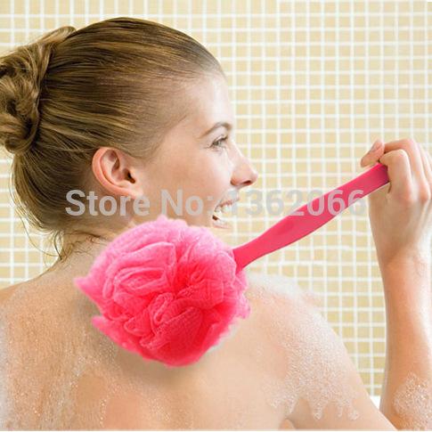 Cabo de Super macio bola pode pendurar tipo de massagem esfoliante banho escova de banho escova de banho banho de bola de malha